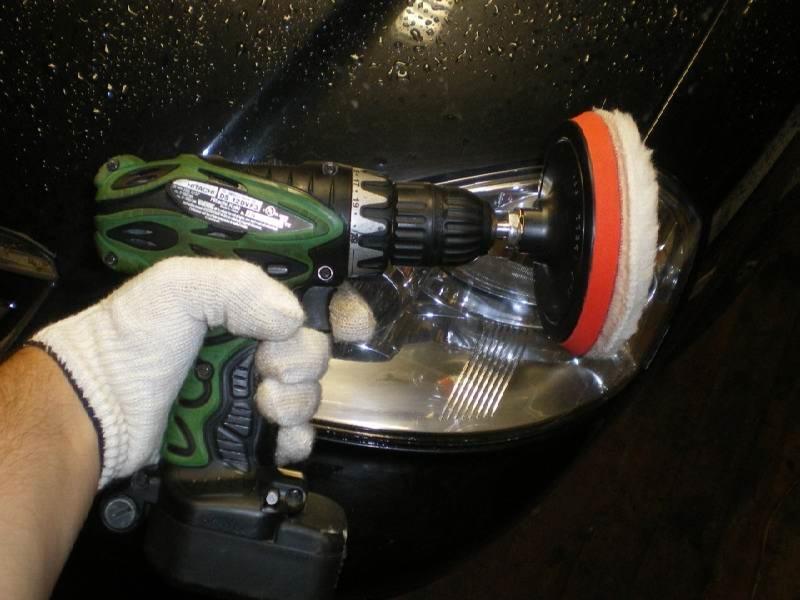 насадки на дрель для полировки фар автомобиля