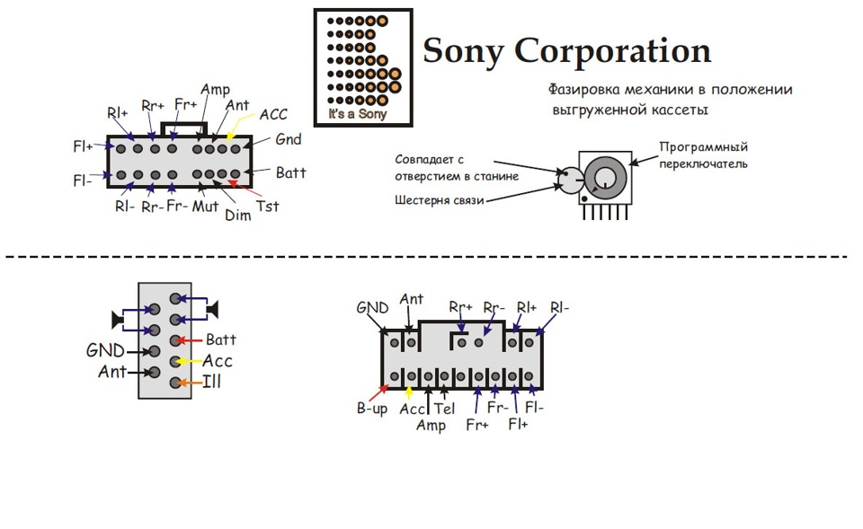Sony cdx-gt470um схема