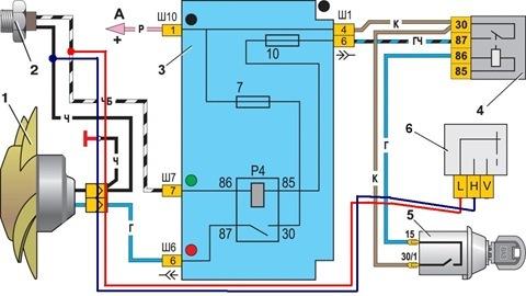 Схема включения электродвигателя ...