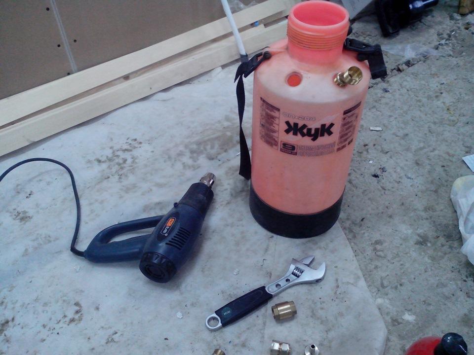 пеногенератор своими руками из автомобильного компрессора