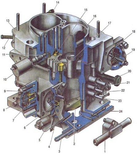 Схема ДААЗ 21073