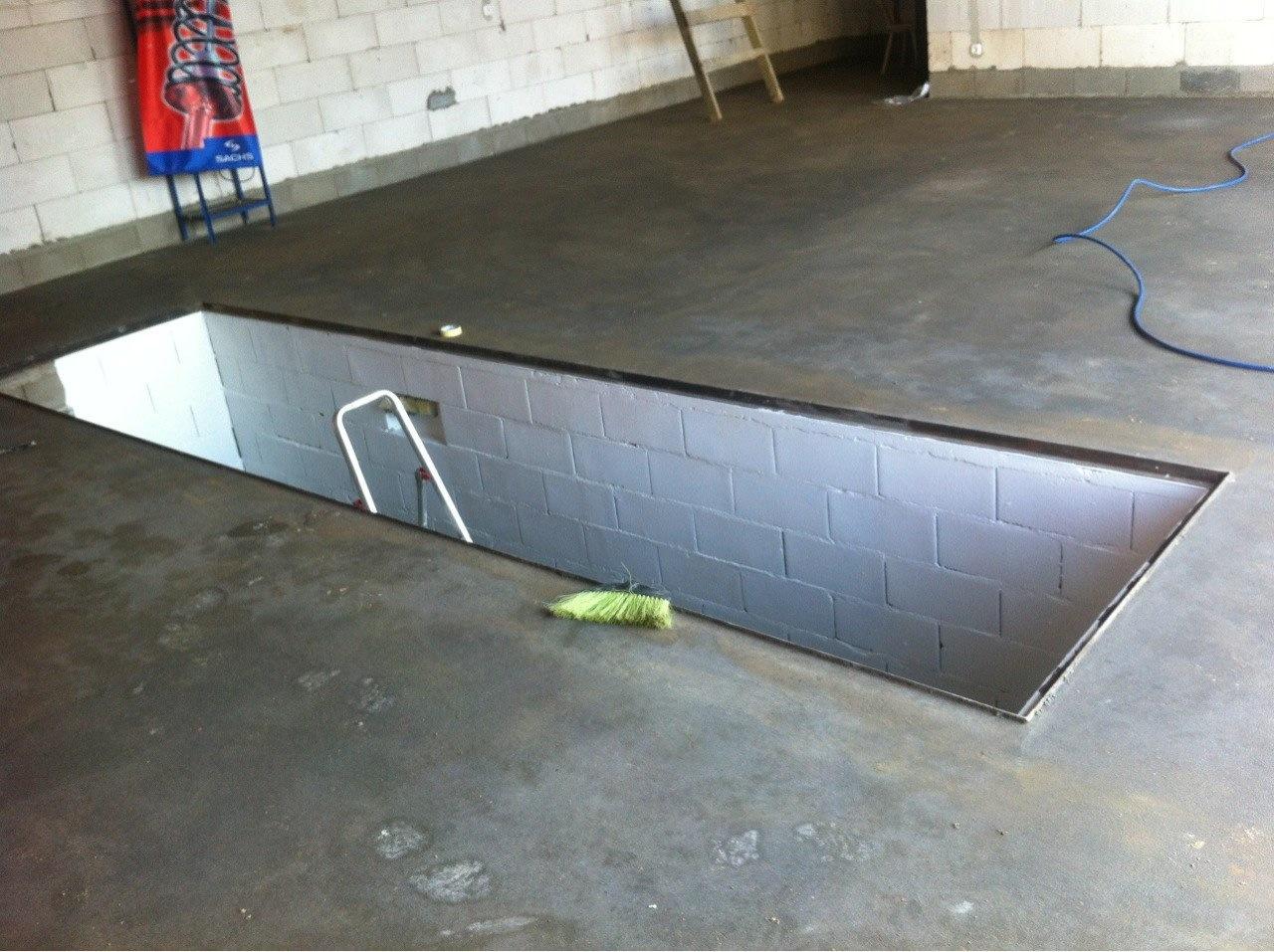 стало смотровая яма в гараже фото термо-шеллака