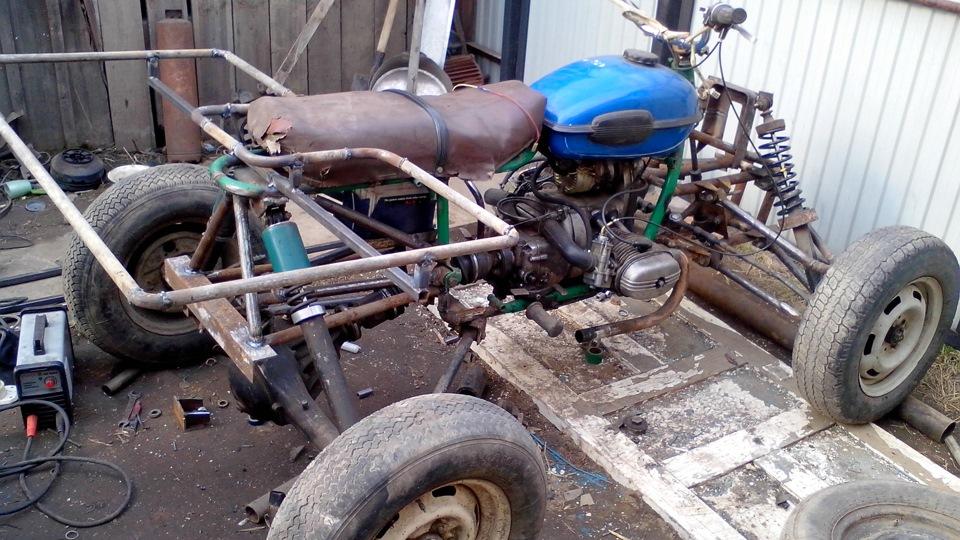Квадроцикл из мотоцикла 104