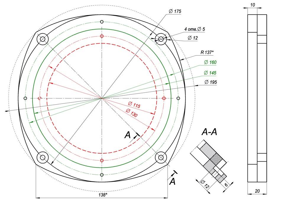 Кольца проставочные под динамики размеры