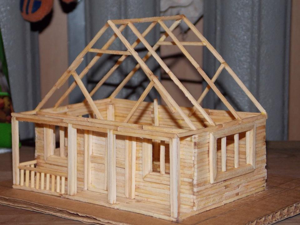 Большой дом из спичек своими руками инструкция