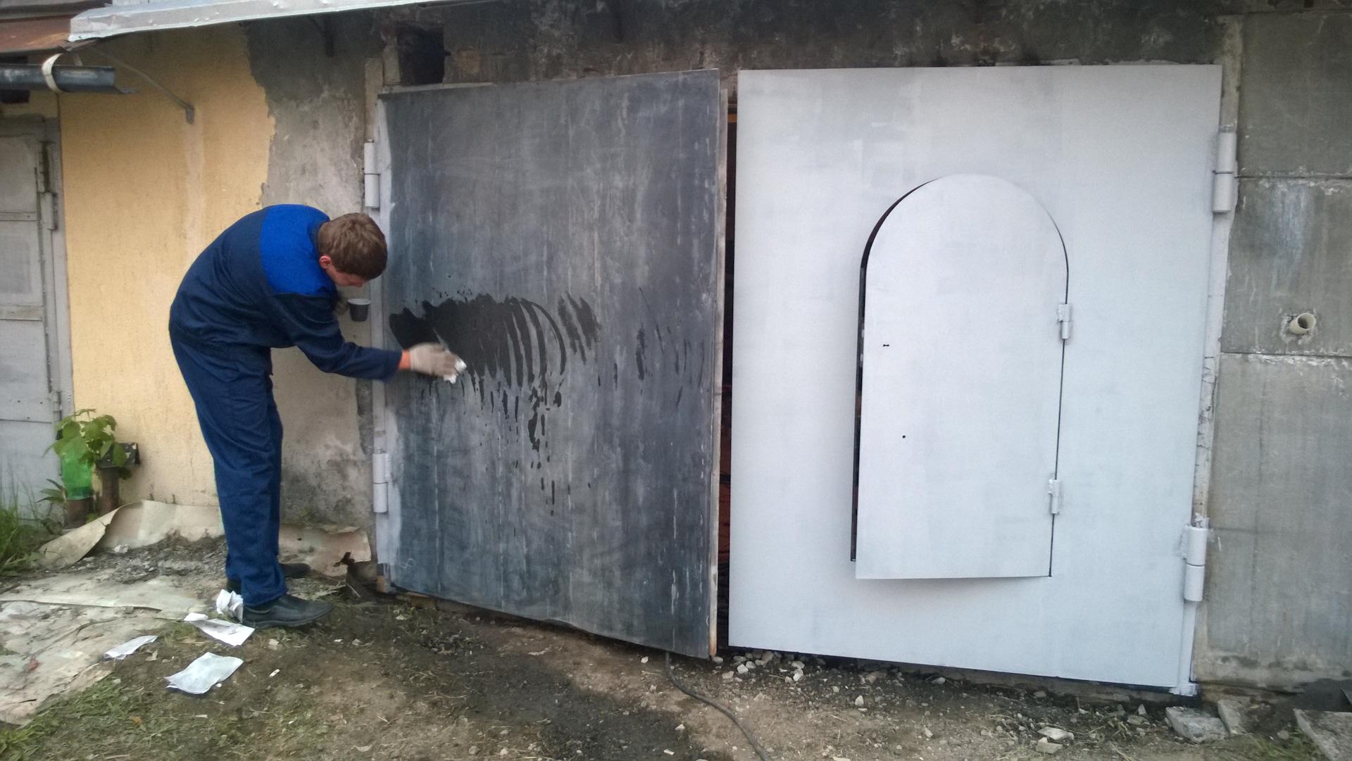Ворота на гараж своими руками чертежи фото
