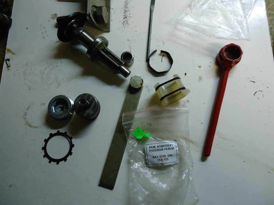Ваз 2109 ремонт своими руками рулевая рейка