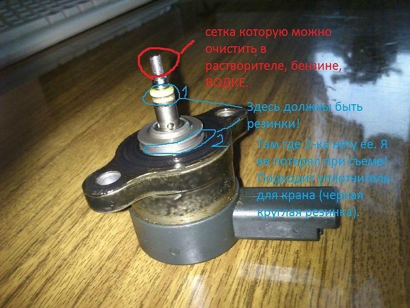 Как почистить регулятор давления топлива 2.0 hdi своими руками