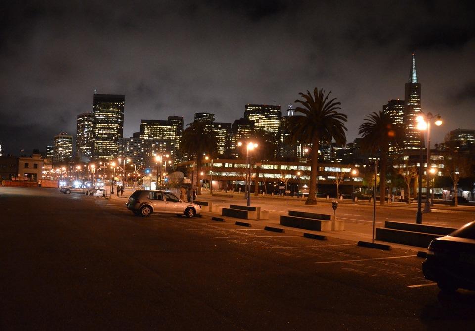 Калифорния ночью фото
