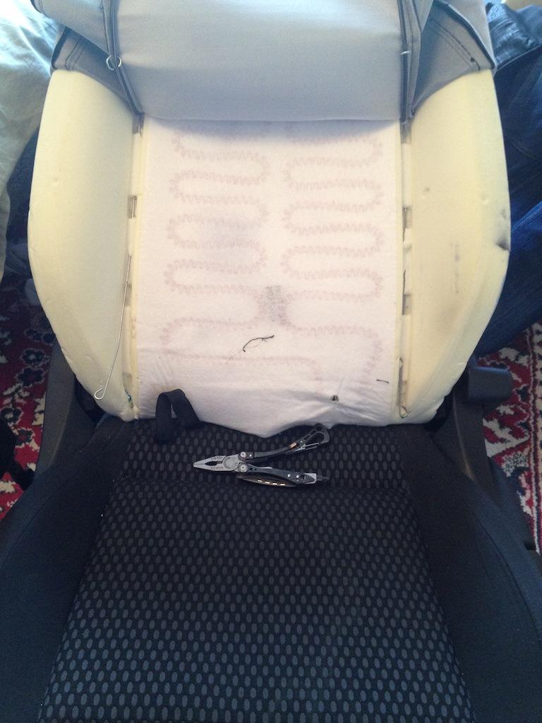 разборка передних сидений фольксваген поло седан