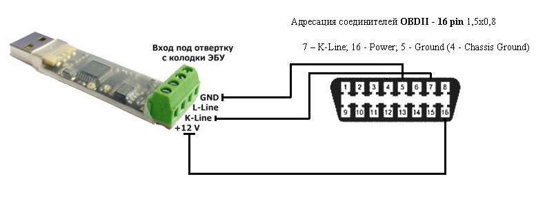 K-line адаптер своими руками для toyota