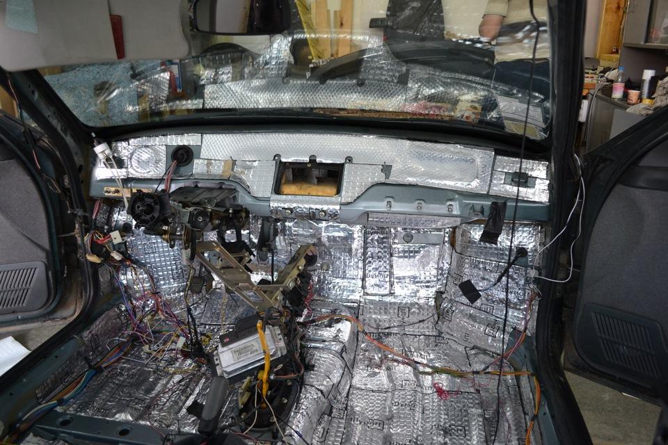 Фото №4 - шумоизоляция моторного отсека ВАЗ 2110