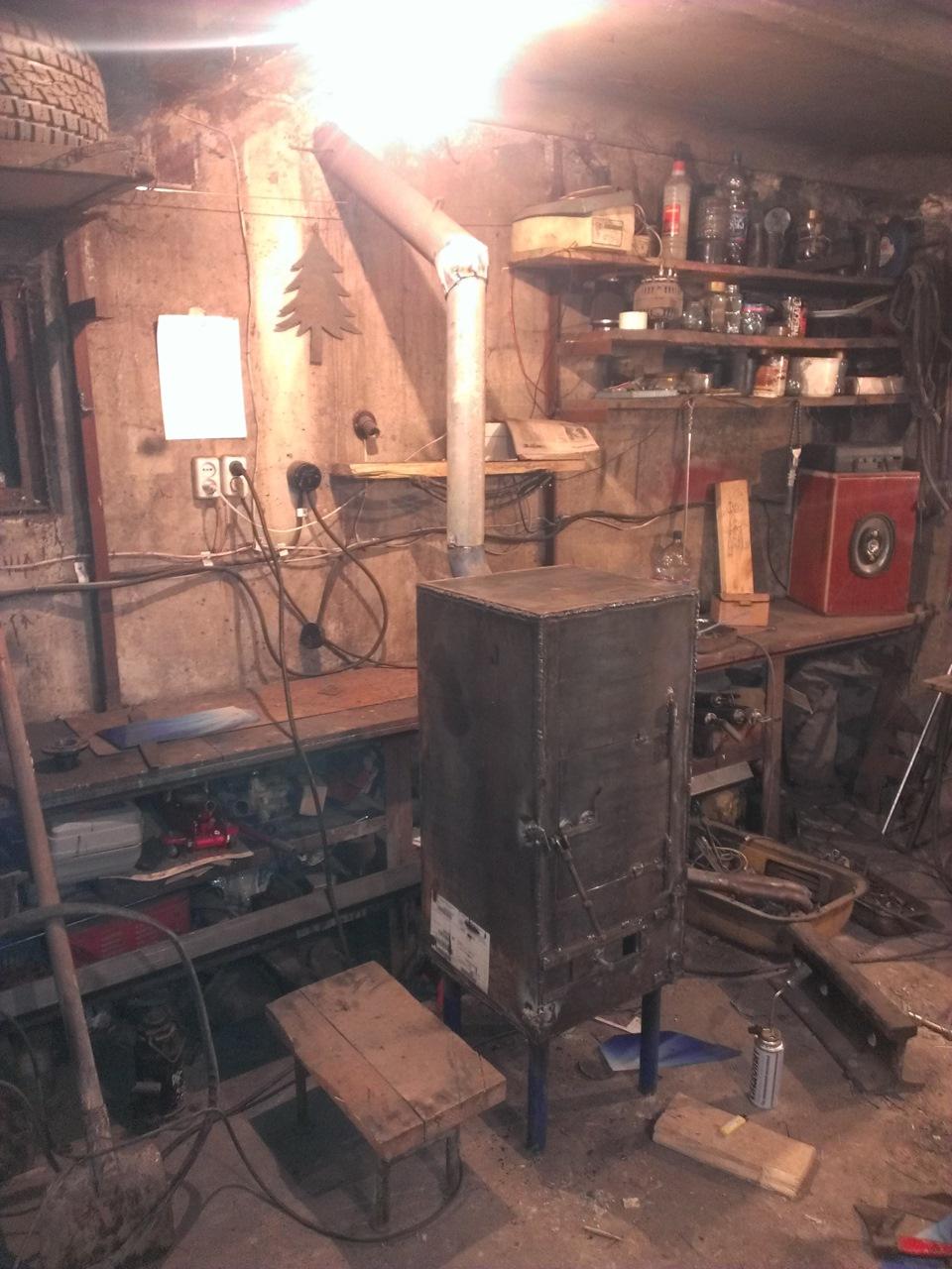 печь для гаража фотоотчет можно