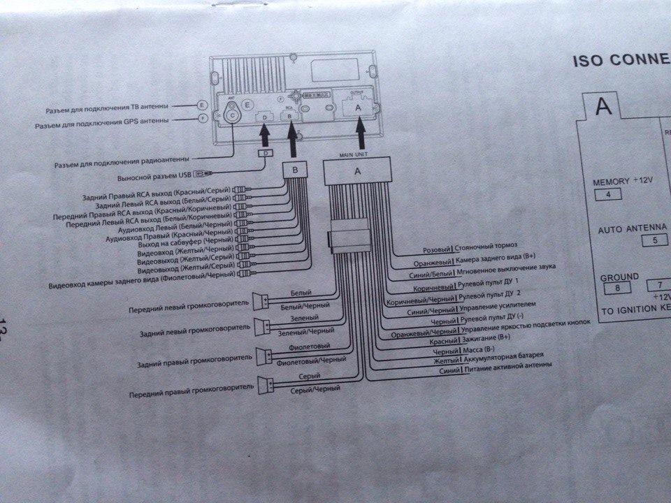 схема подключения всего мафона