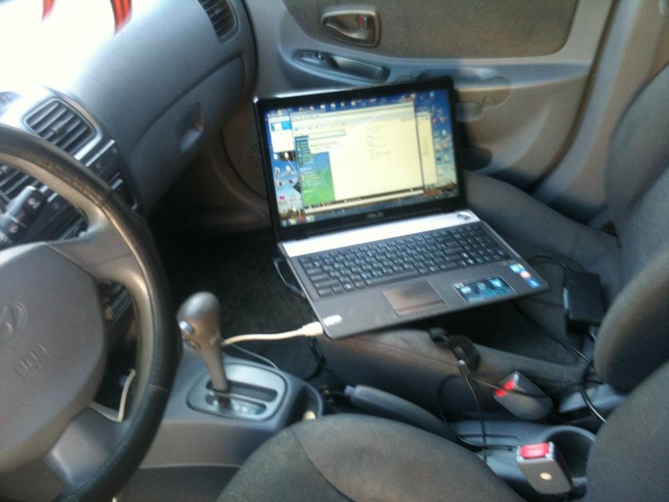 Компьютерная диагностика автомобиля с ноутбука