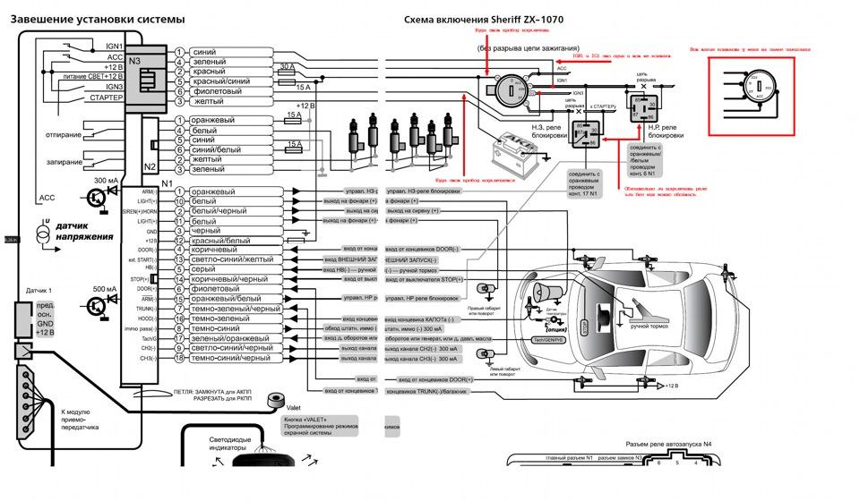 автомобильная сигнализация шериф инструкция aps95lcd-b4