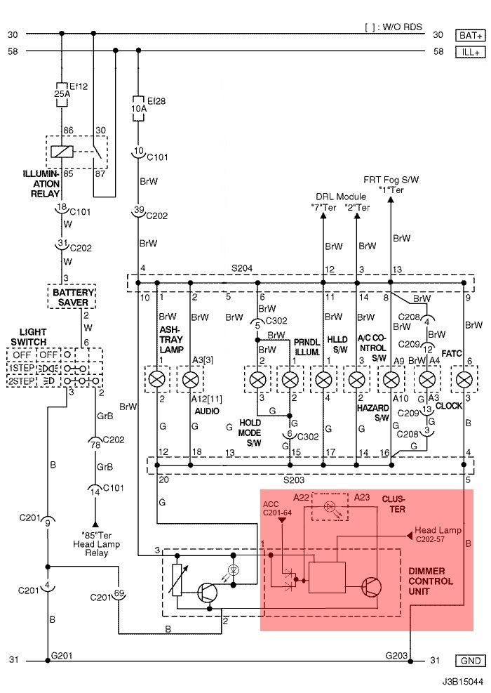 распиновка разъемов приборной панели chevrolet lacetti