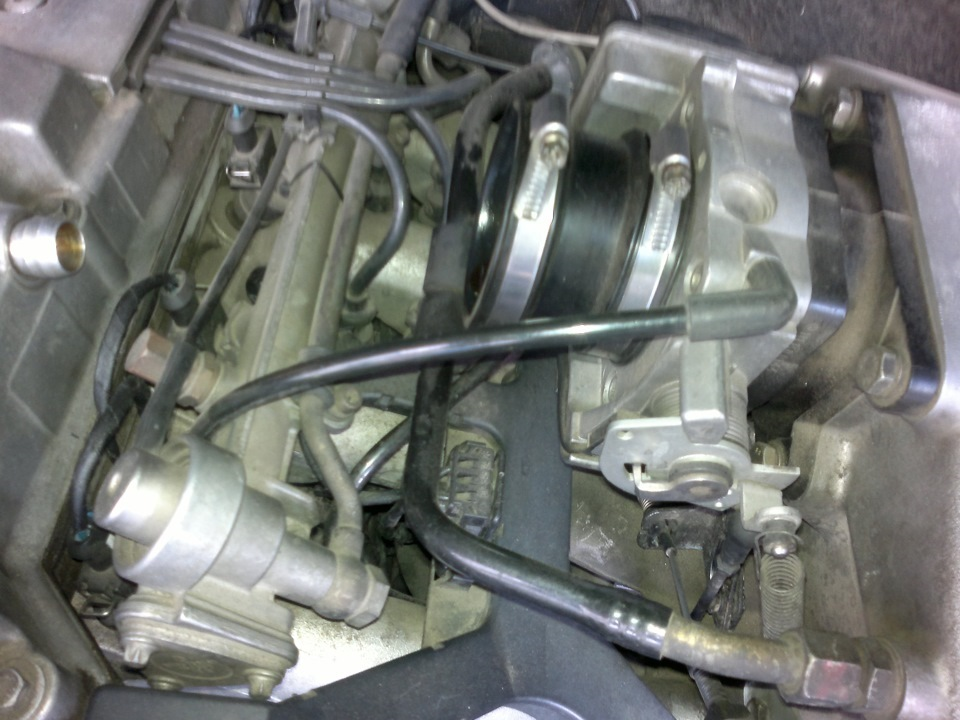 Cleaning of crankcase ventilation W202 — logbook Mercedes
