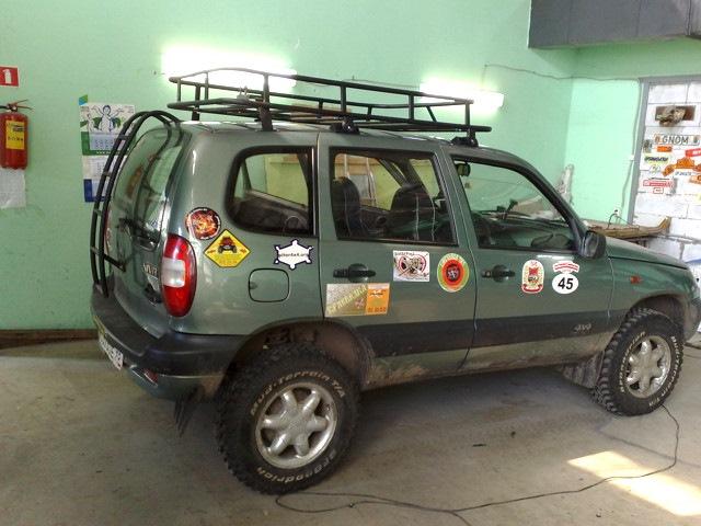 Нива шевроле экспедиционный багажник