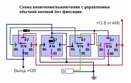 Схема кнопки старт стоп фото 778