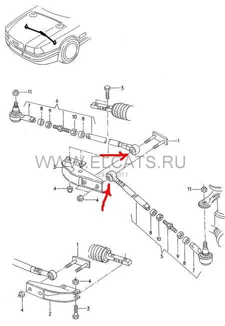 Ремонт рулевых тяг (замена