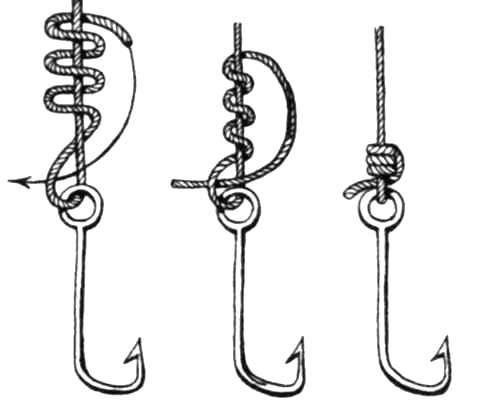 Как правильно привязать 2 крючка к леске