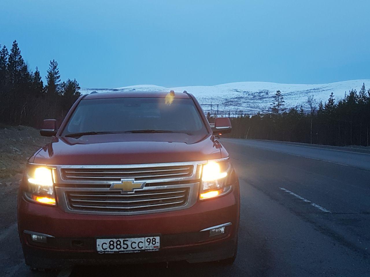 Дорога Питер Мурманск я на Родине бортжурнал Chevrolet Tahoe Красная Красавица 2016 года на