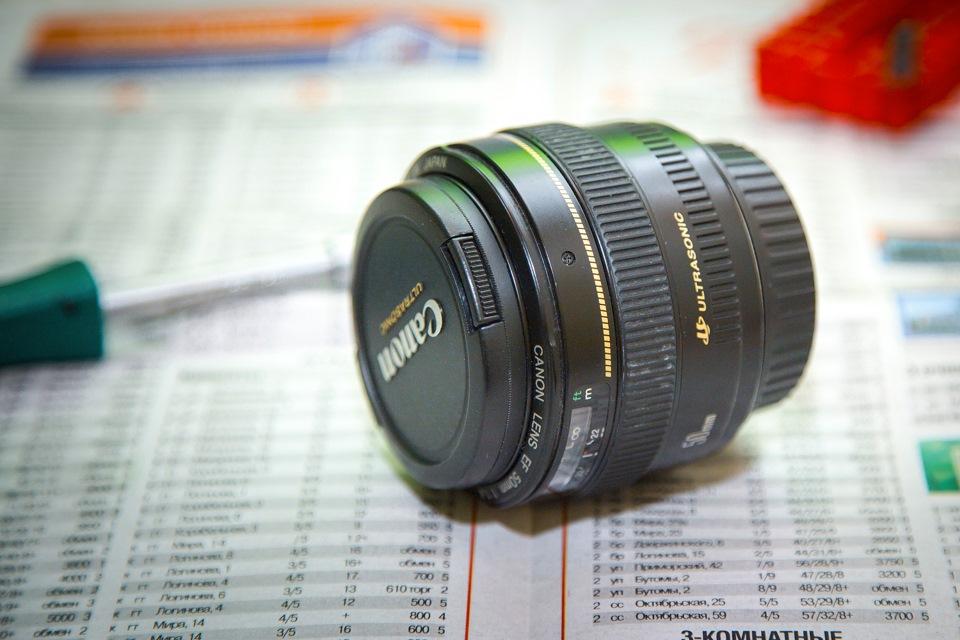 Ремонт Canon EF 50mm f/1.4 USM. Фото.: https://www.drive2.ru/c/1653314/
