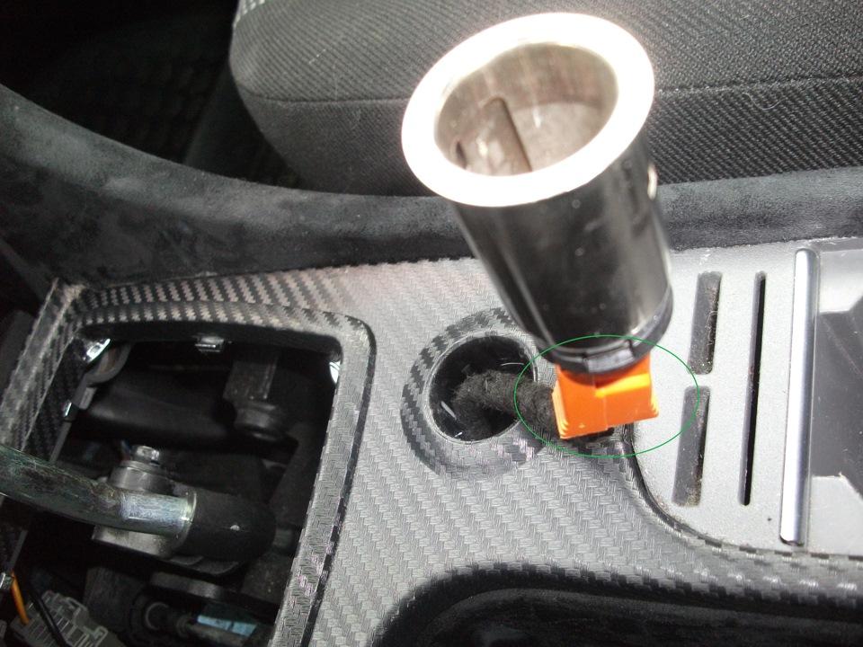 как поменять прикуриватель на ford focus 2