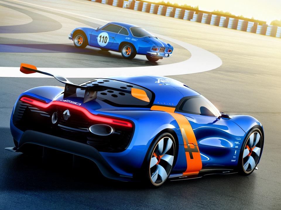 Renault Alpinе — концепт представленный вместе с Аленом Простом.