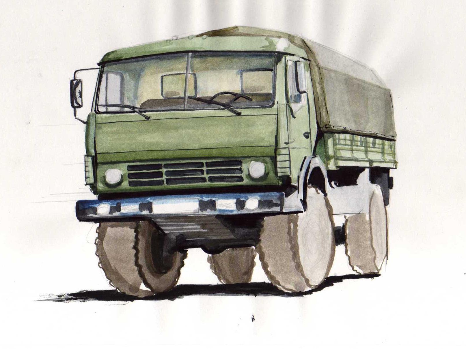 снимают рисунки грузовиков камаз мае