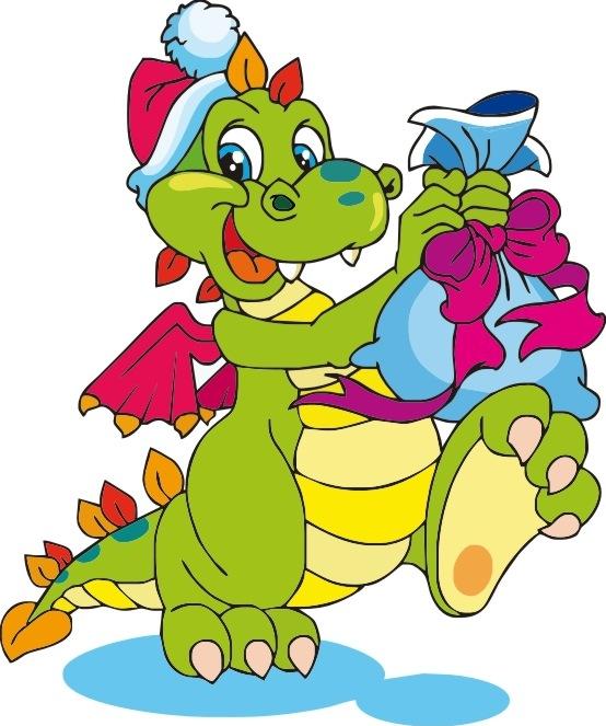 С новым годом открытка дракон