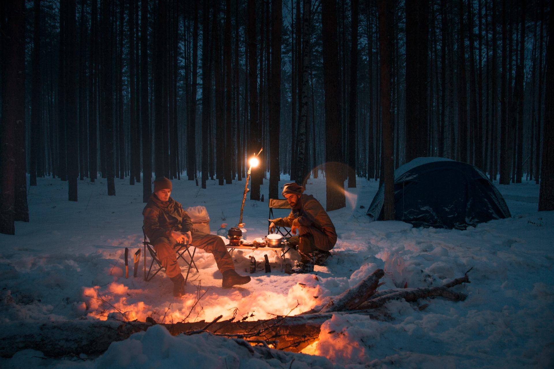 покажите пожалуйста картинки отдыхающих зимой у костра мази