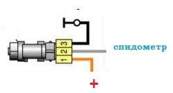 Схема подключения датчика скорости ваз 2110 инжектор