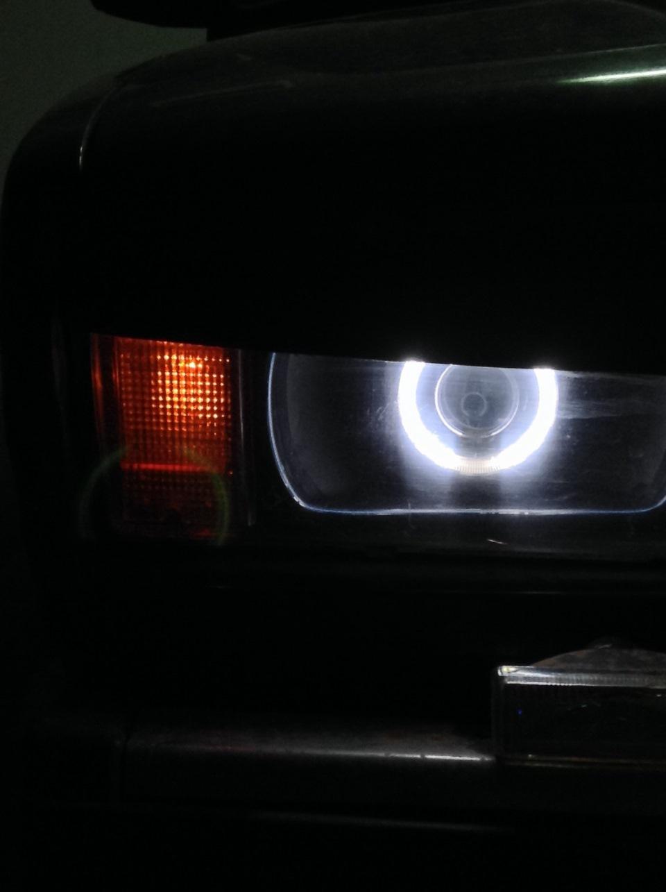 Ангельские глазки на ваз 2106 своими руками из светодиодной ленты