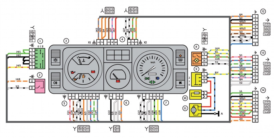 Ваз 21053 схема электрооборудования фото 550