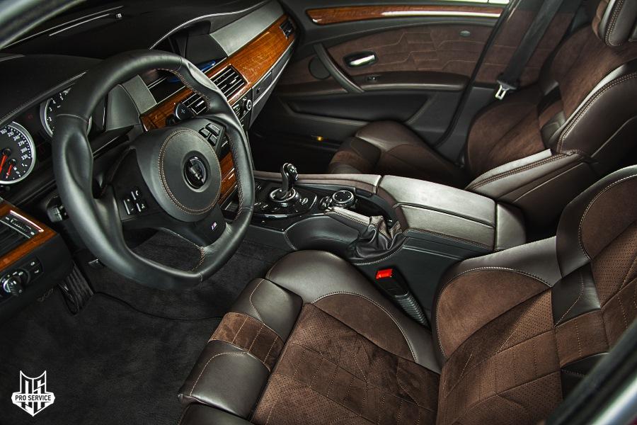 Пошив салона BMW M5 Эрика Давидовича Smotra.ru