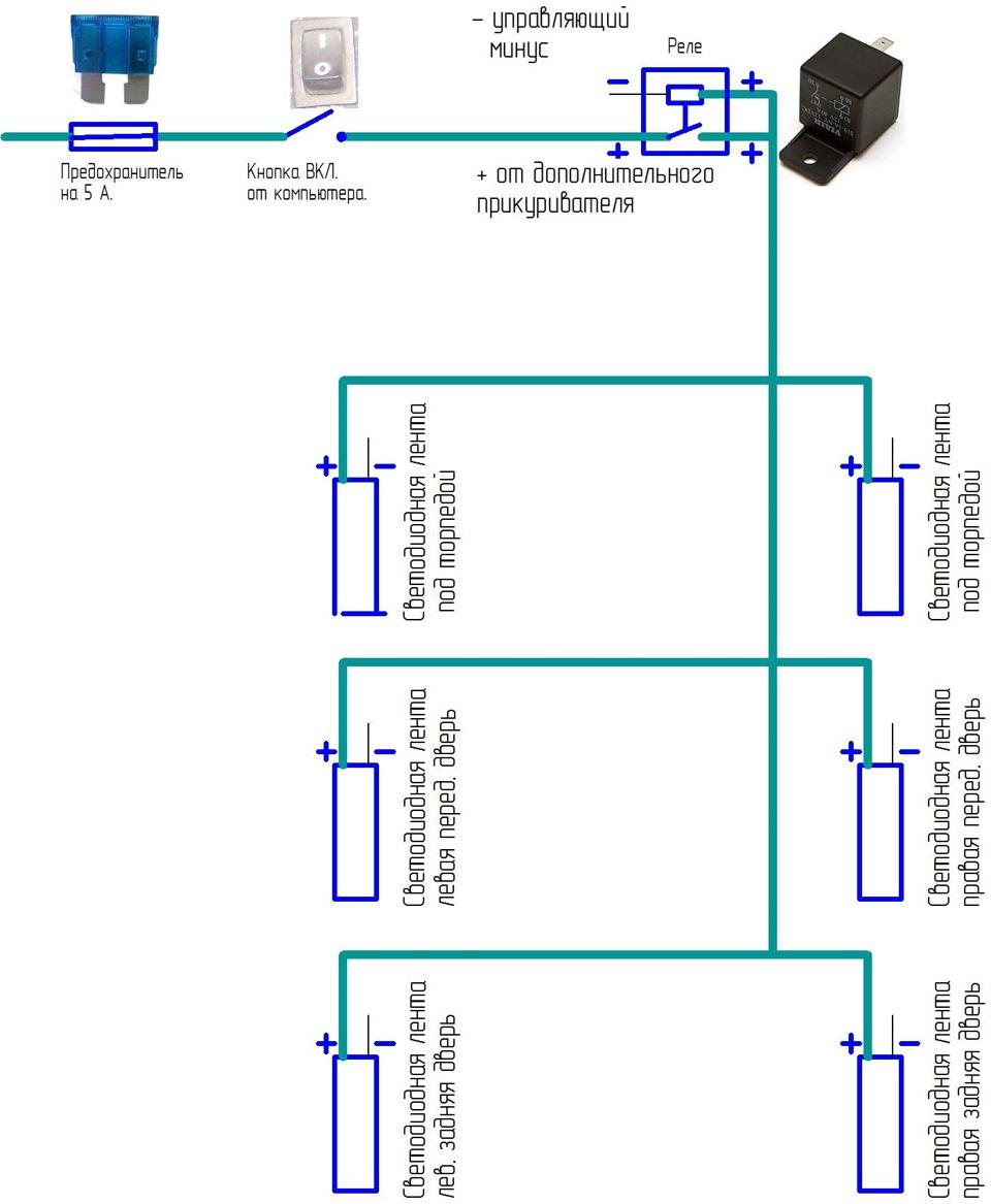 Светодиод подключение на схеме