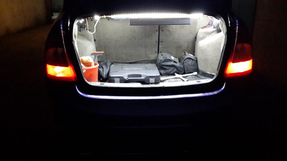 Подсветка в багажник калины