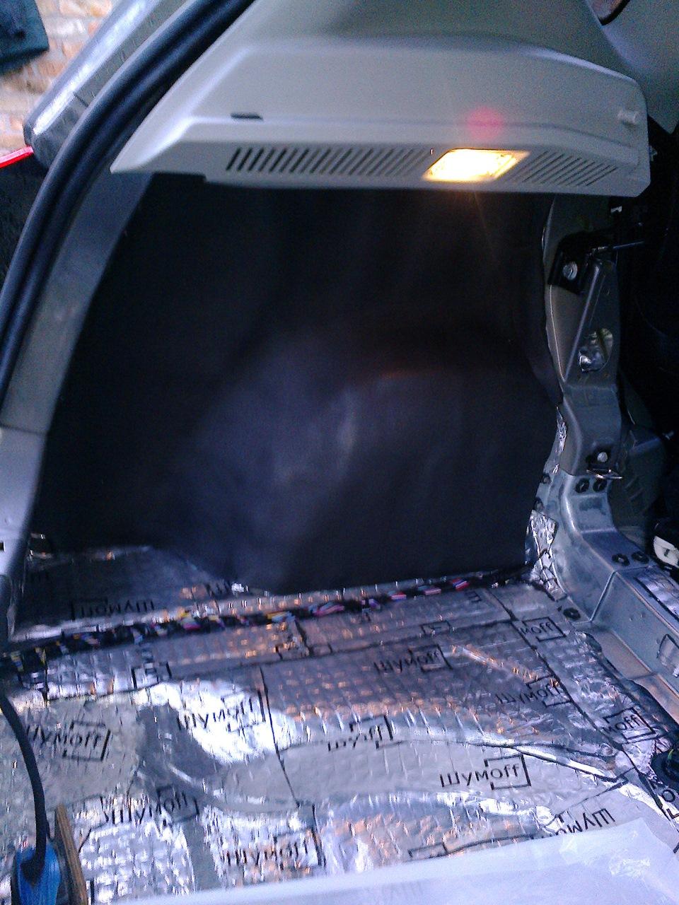Как сделать шумку в багажник 166