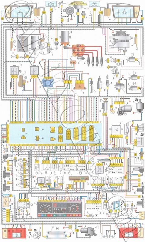 Электрическая схема ВАЗ 21083