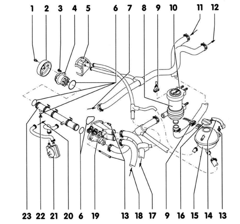 1 — Болты шкива помпы с