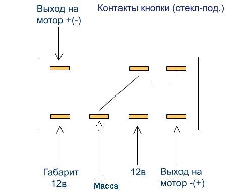 Схема кнопки ЭСП ВАЗ 2110