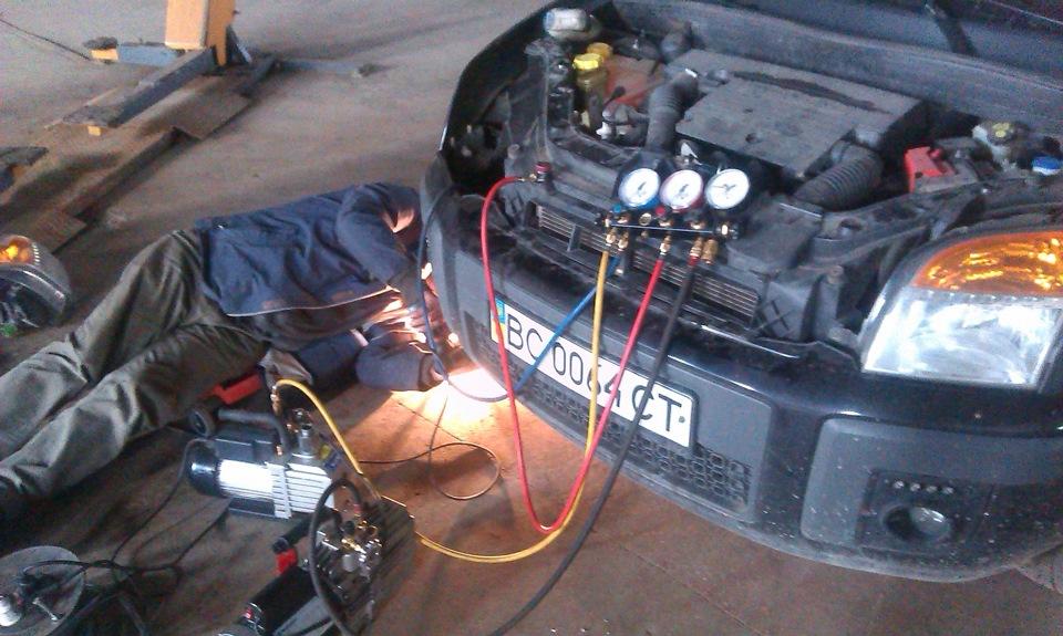 Ford fusion заправка кондиционера своими руками