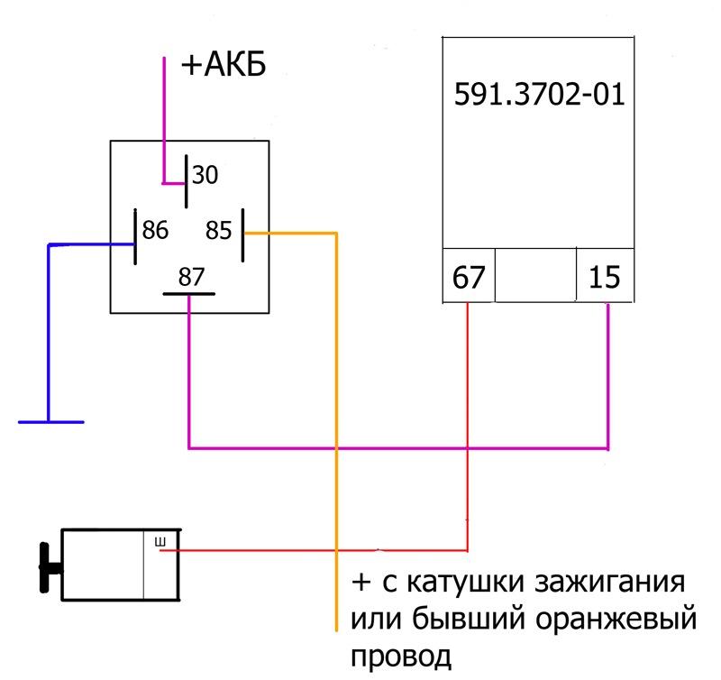 3702 01 регулятор напряжения схема подключения