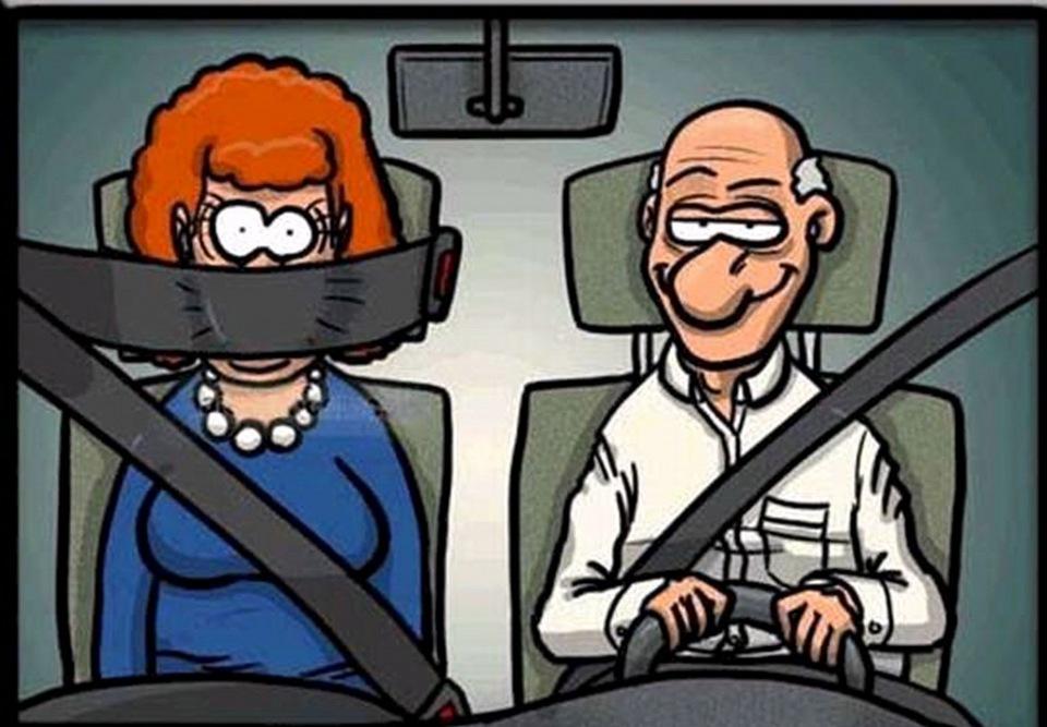 Фото жена в машине