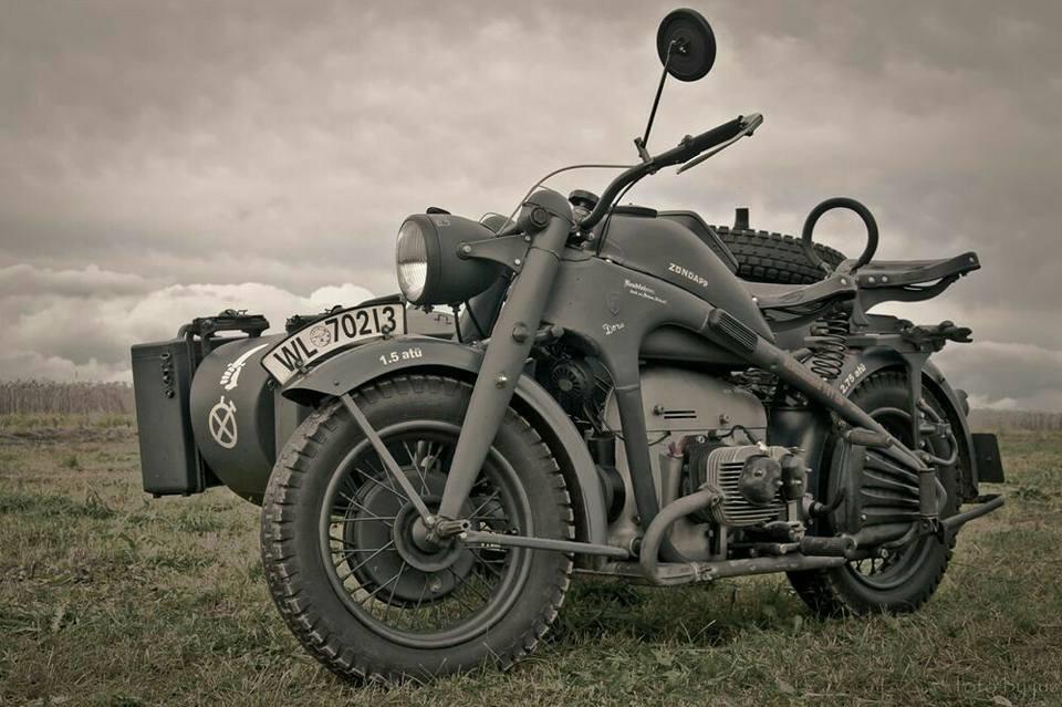Тяжелый немецкий мотоцикл Zundapp