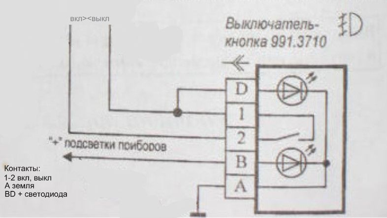 Схема кнопки кондиционера ваз 2110