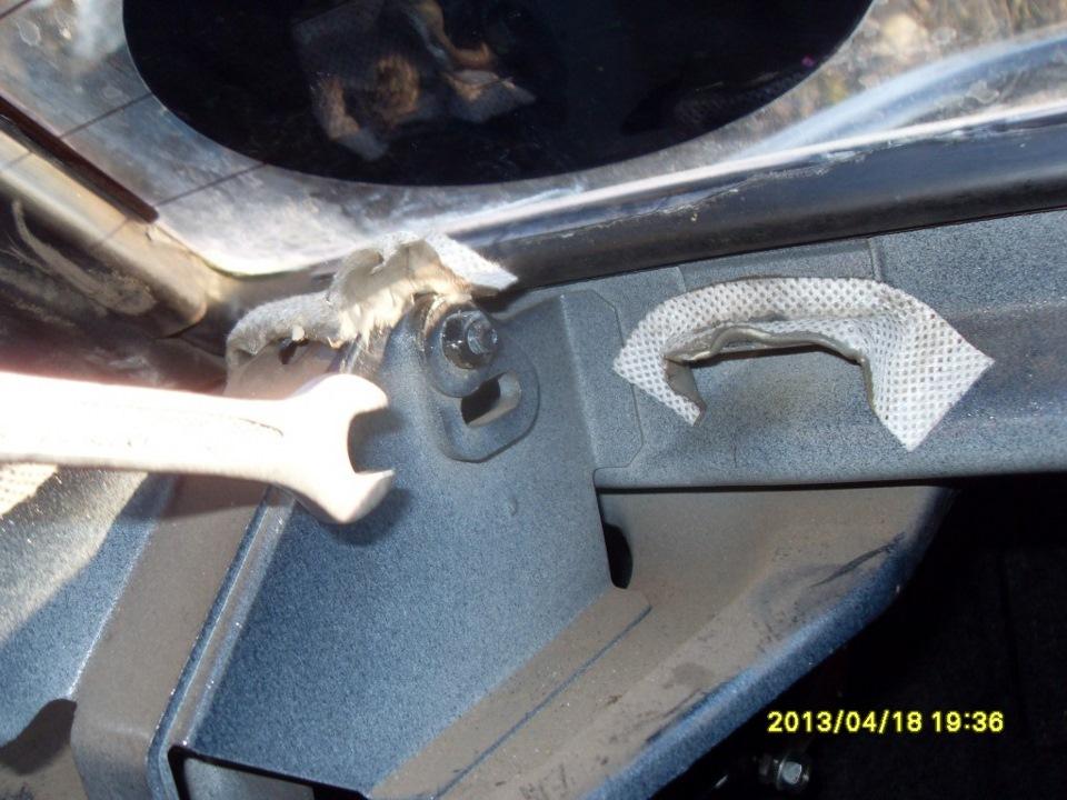 Ремонт торсионов багажника ваз 2115 своими руками 46