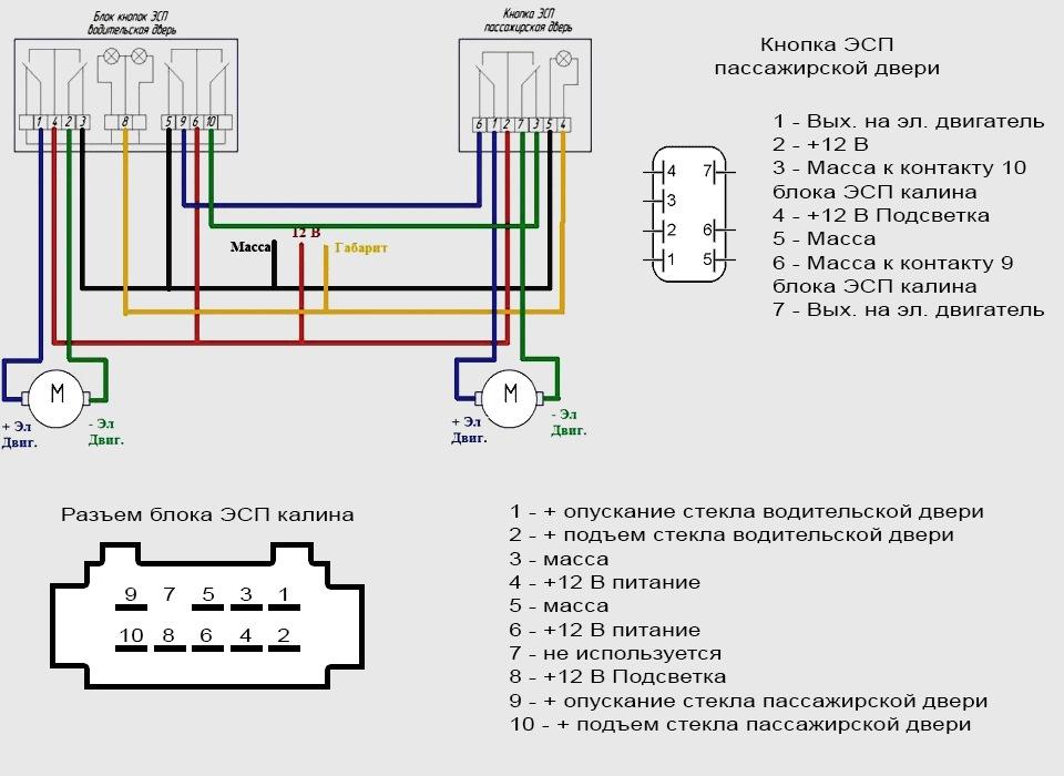 Схема подключения блока ЭСП